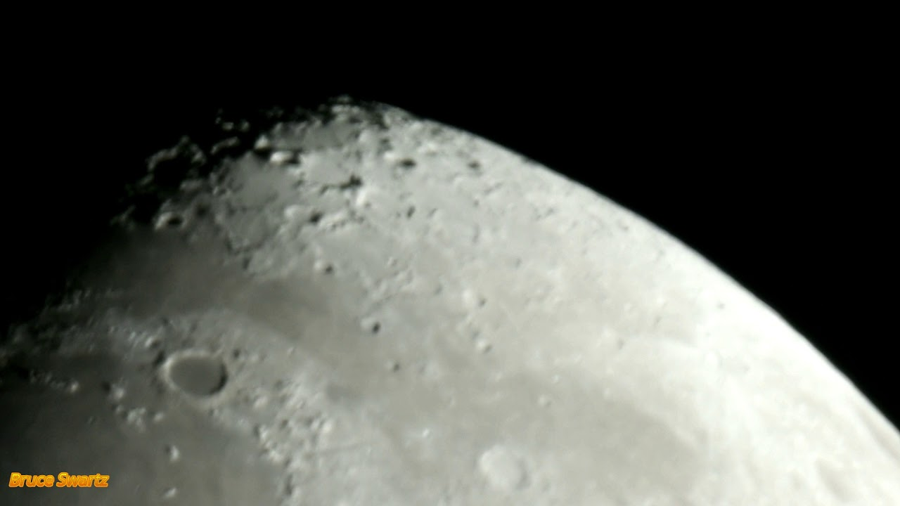CGXL 1400 HD Telescope Live Moon Zoom