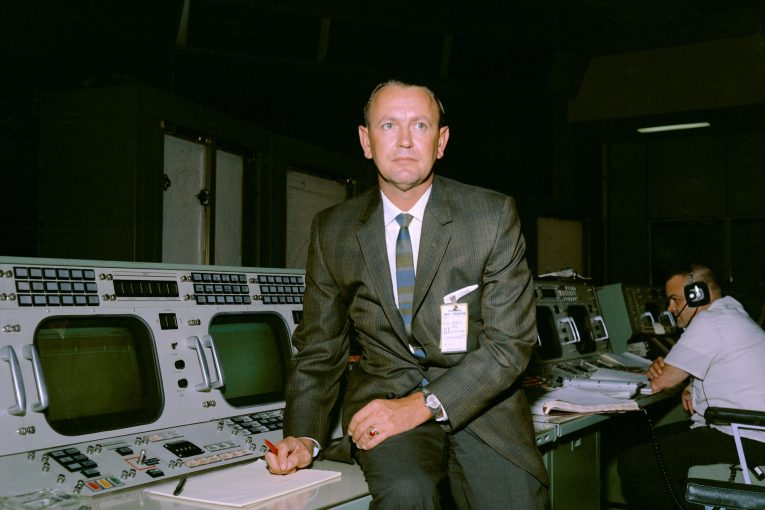 Christopher Kraft at Flight Console