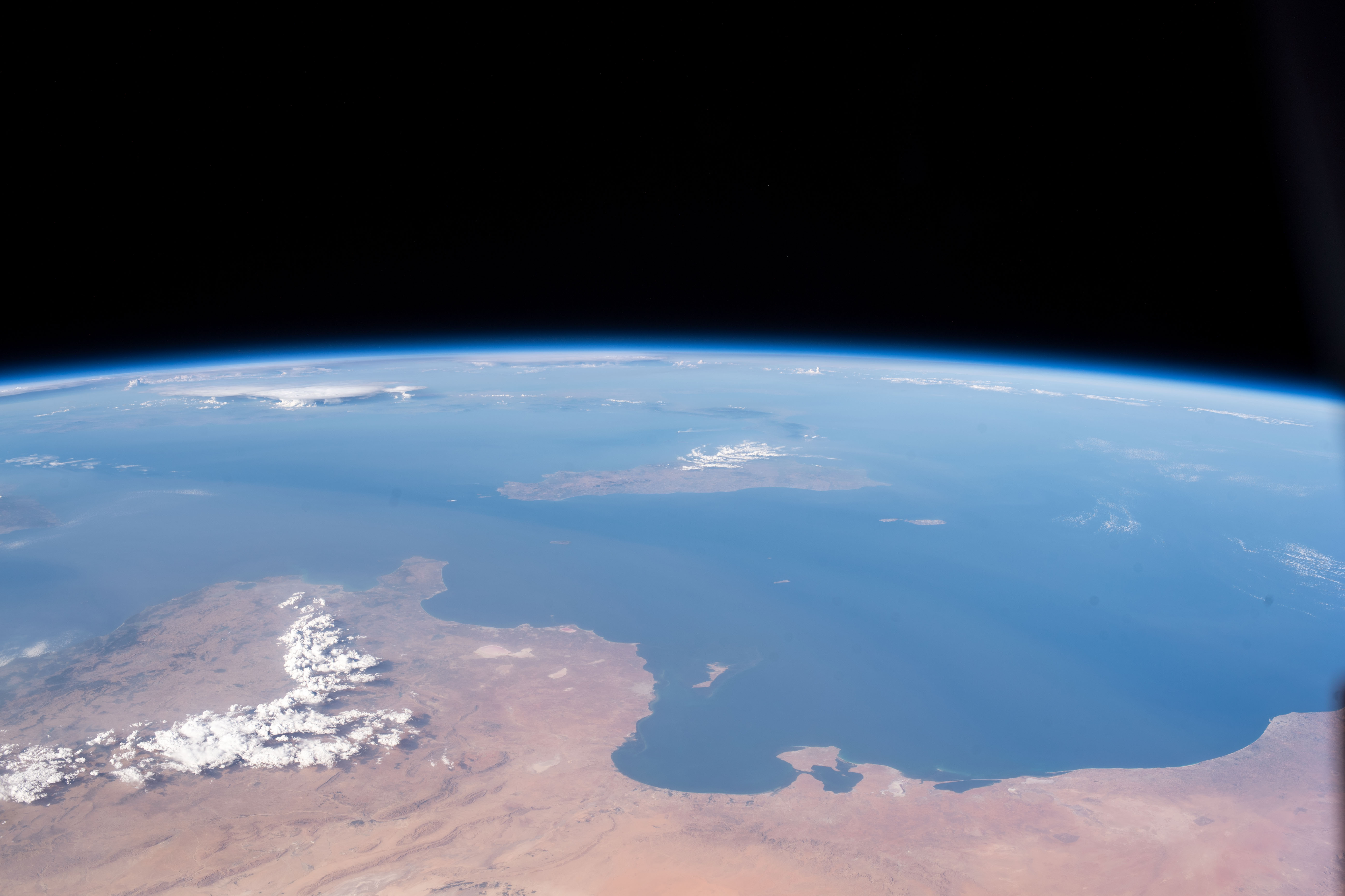 Viewing the Mediterranean Coasts of Tunisia and Libya from the Space Station