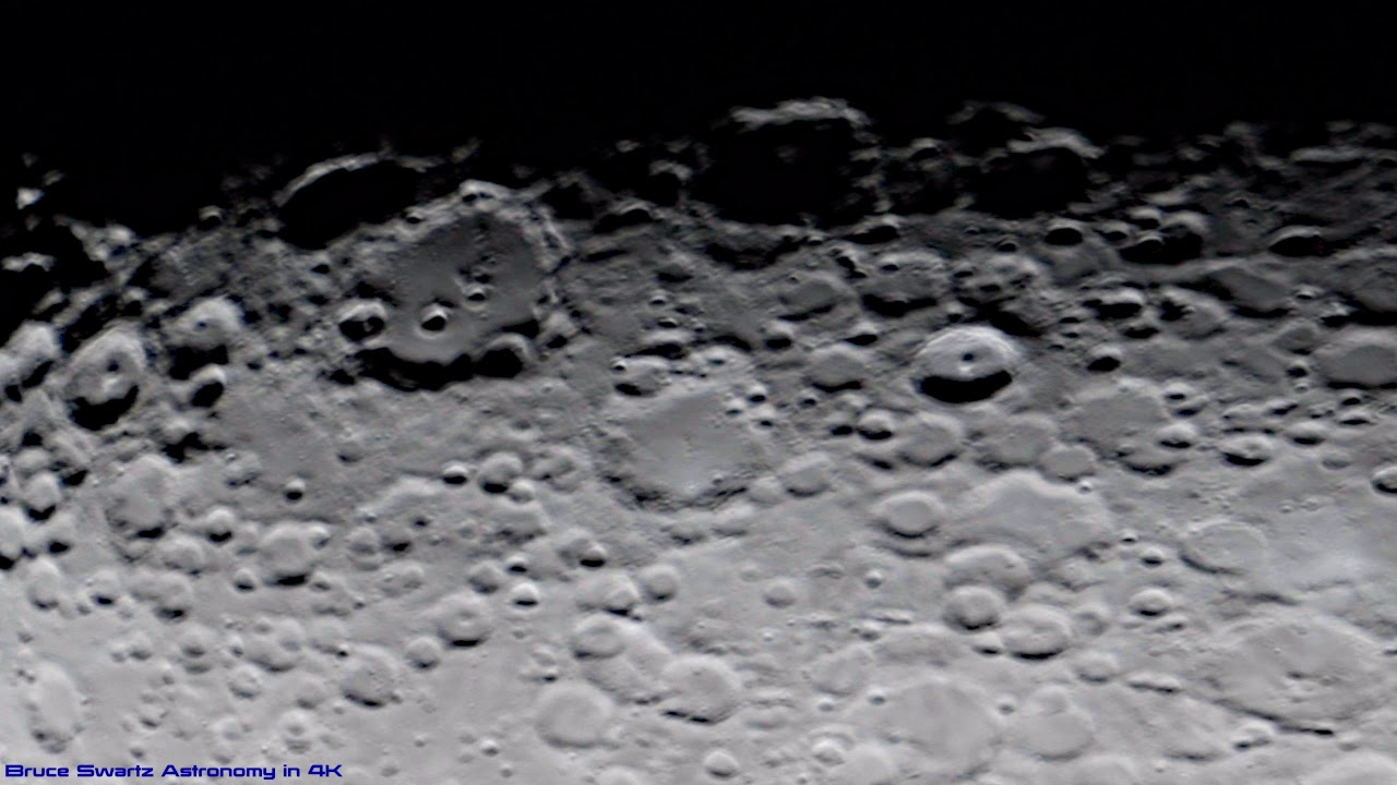 Tycho Crater Closest Approach With A Telescope & Strong Magnification in 4K