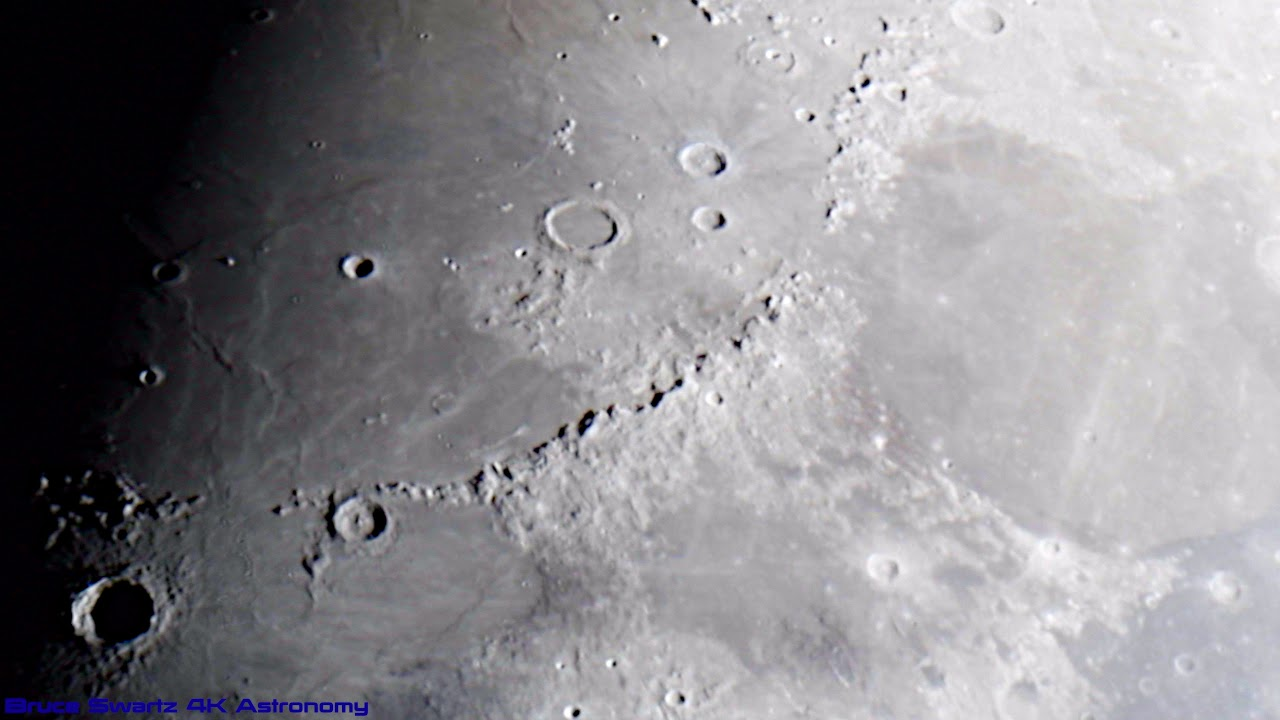 Best High Quality 4K  Live Moon Crater Close Up's at 100 fps