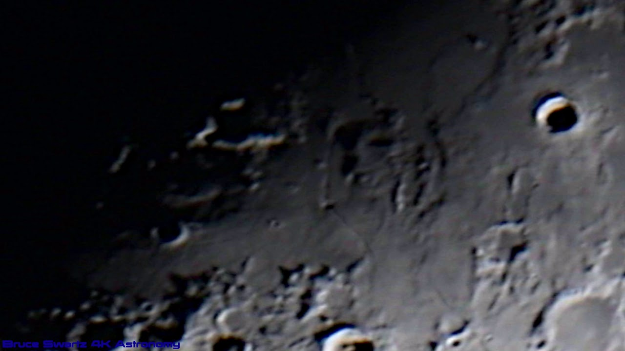 4k High Quality Lunar Crater Close Up's with a CGXL1400 HD Telescope