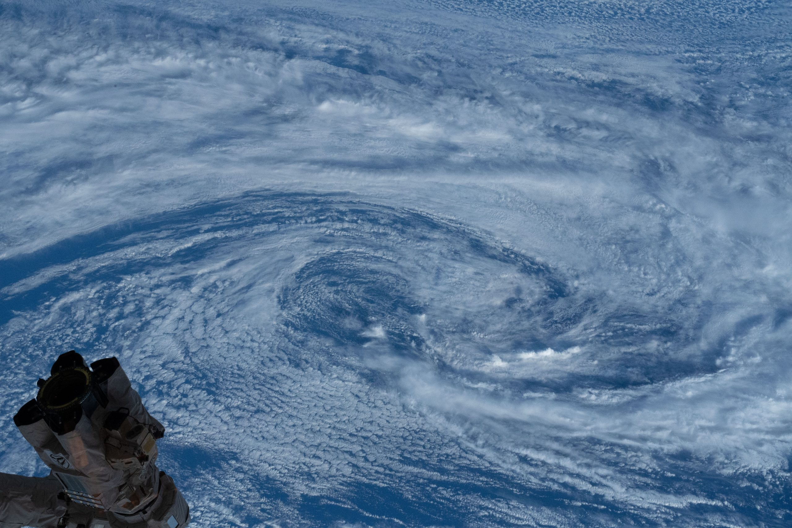 Station Crew Sees Typhoon from Space