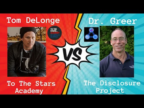 Tom DeLonge, Dr Steven Greer, To The Stars Academy, and The Disclosure Project