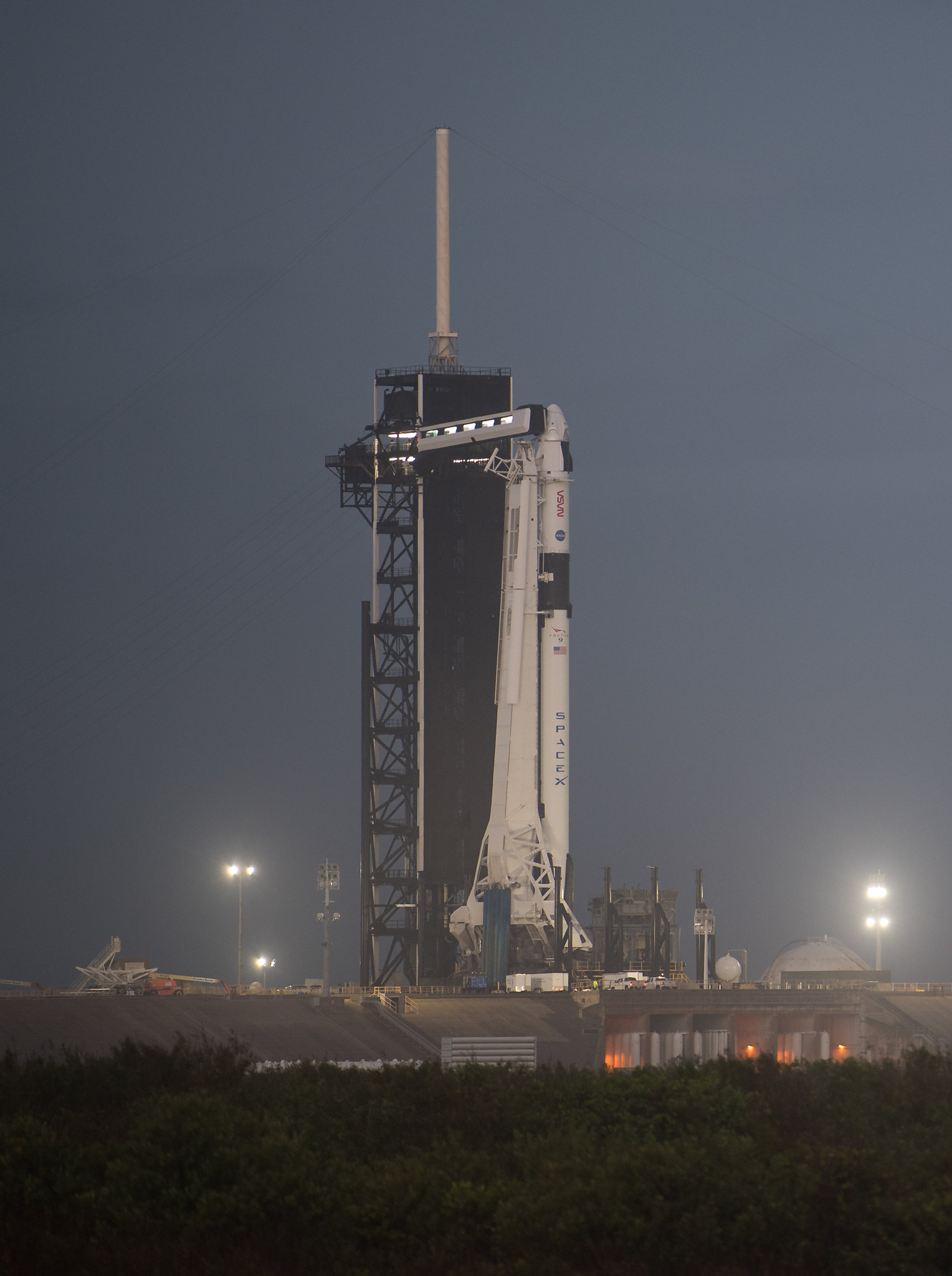 SpaceX Falcon 9 Rolls Out for Saturday Launch