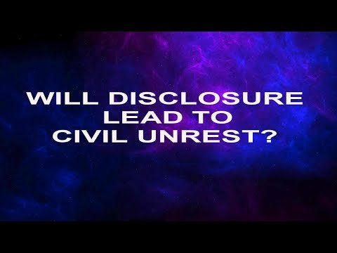 Would UFO disclosure lead to civil unrest? Would proof that aliens exist and have been visiting us send humanity down a dark path fraught with instability and chaos? That seems to be the narrative out there for many but I'm not convinced.