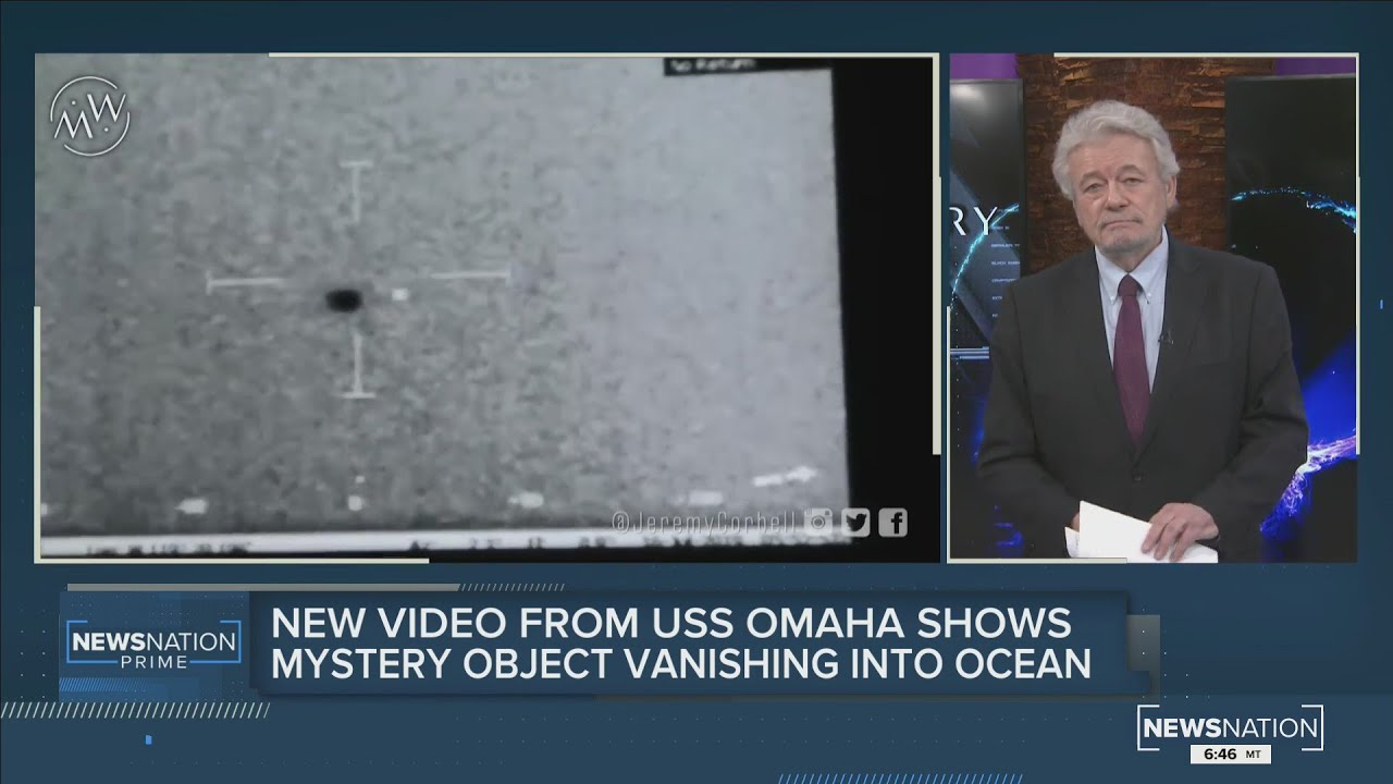 New video from USS Omaha shows unknown aerial sphere vanishing into ocean