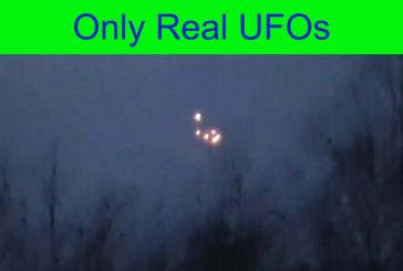 Cluster of UFOs over Lake Ladoga. Russia.